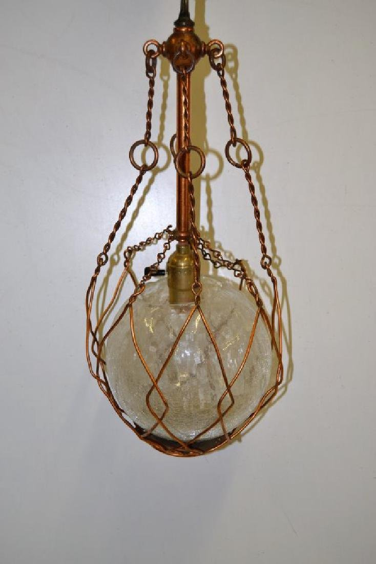 Copper Arts and Crafts Chandelier