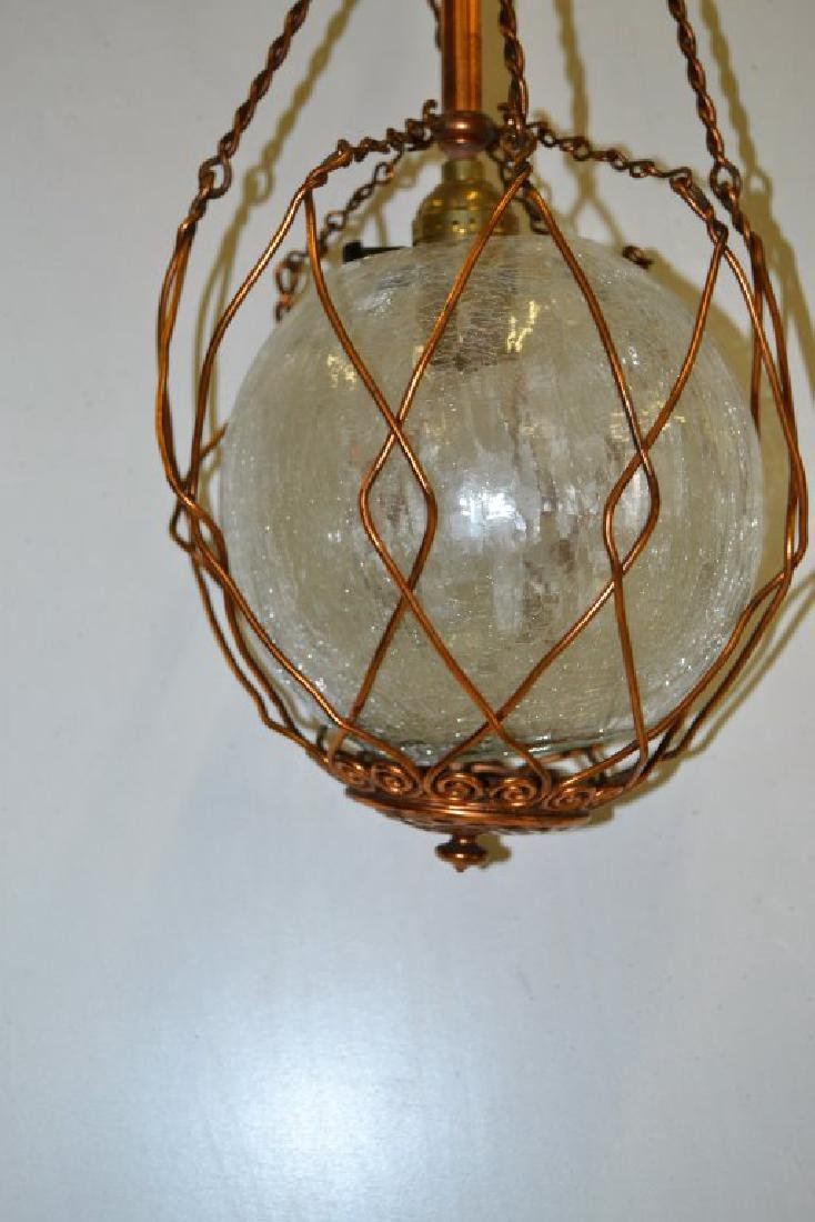 Copper Arts and Crafts Chandelier - 3