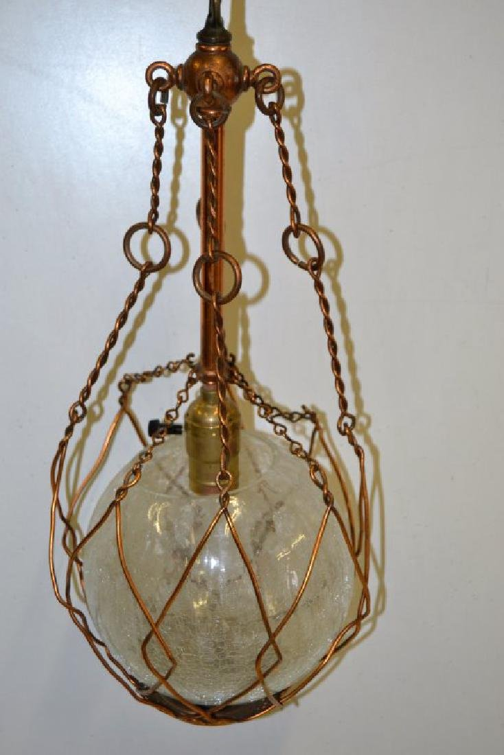 Copper Arts and Crafts Chandelier - 4