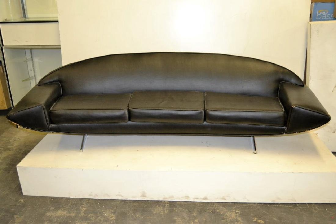 Johannes Anderson Black Leather Sofa
