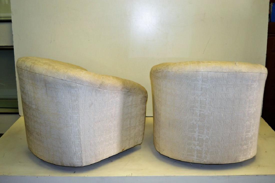 Milo Baughman Style Pair Swivel Tub Chairs - 3