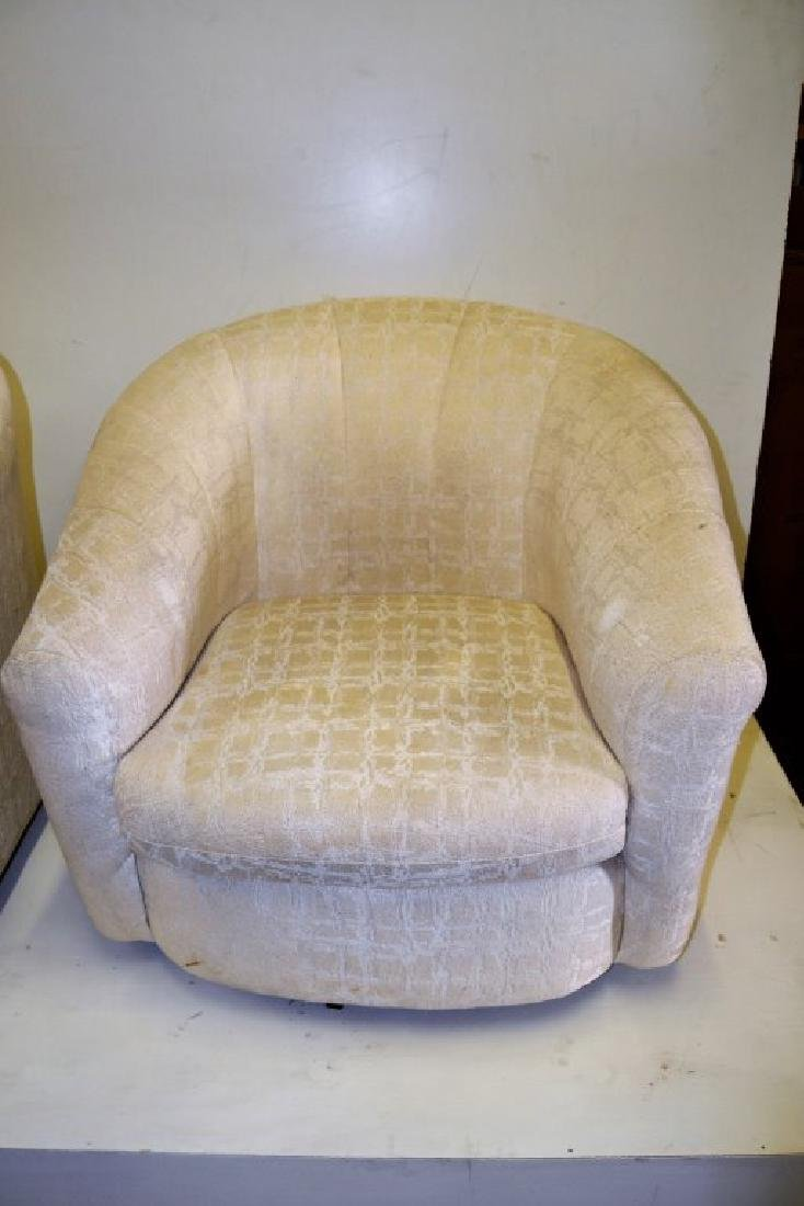 Milo Baughman Style Pair Swivel Tub Chairs - 4