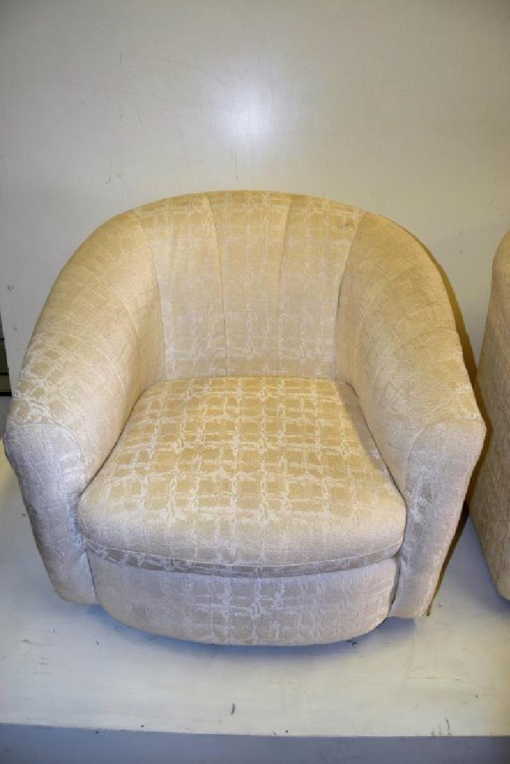Milo Baughman Style Pair Swivel Tub Chairs - 5