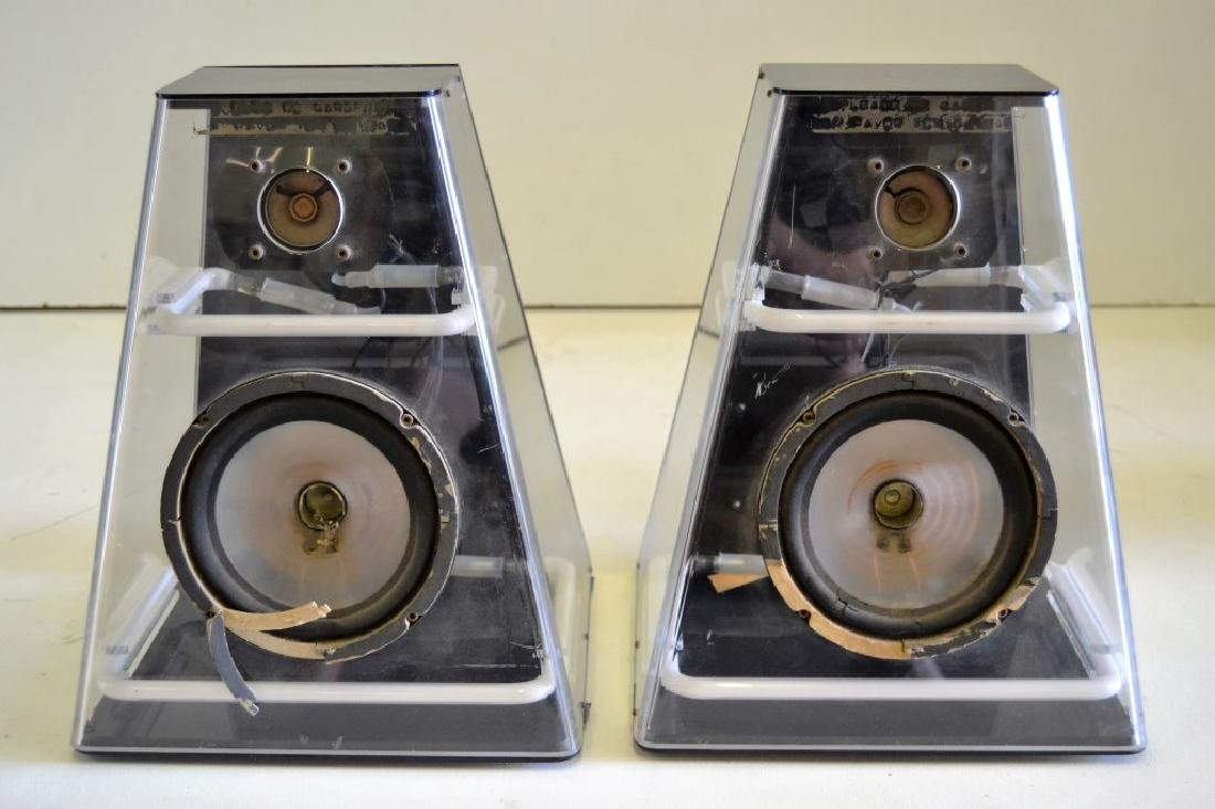 Lucite & Neon Speakers