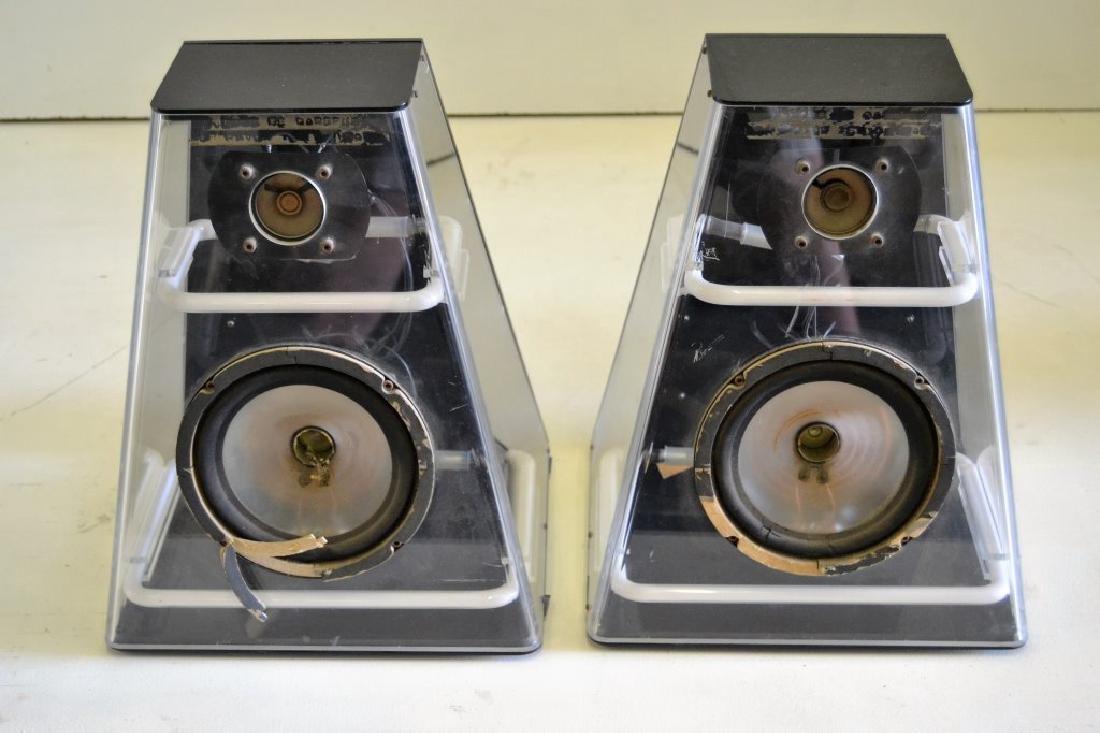 Lucite & Neon Speakers - 2