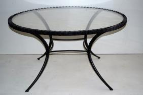 Thin Line Klismos Outdoor Dining Table
