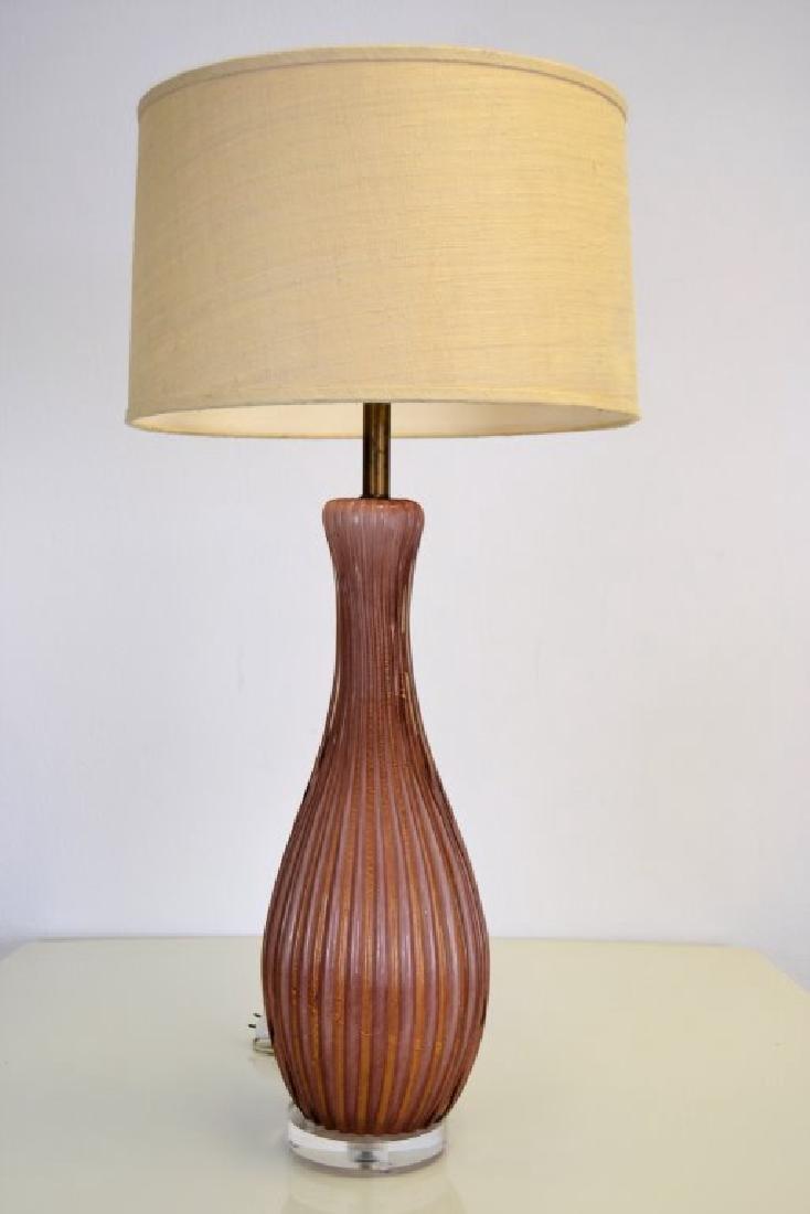 Large Seguso Puple Table Lamp