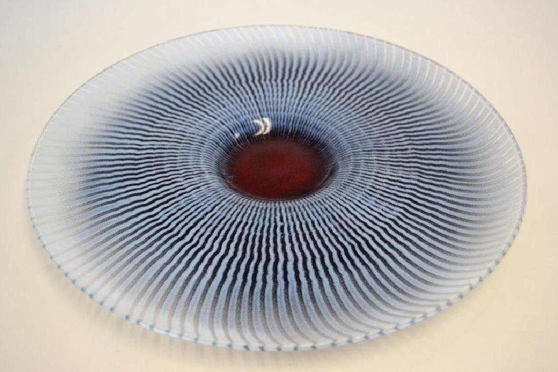 Maurice Heaton Large Glass Charger Signed - 2