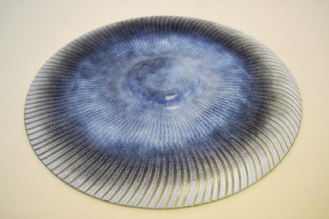 Maurice Heaton Large Glass Charger Signed - 3