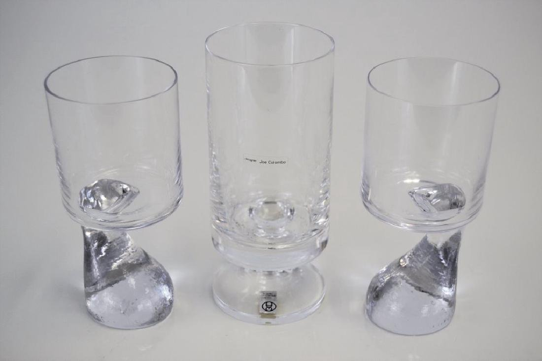 Set of Three Joe Columbo Smoke Glasses