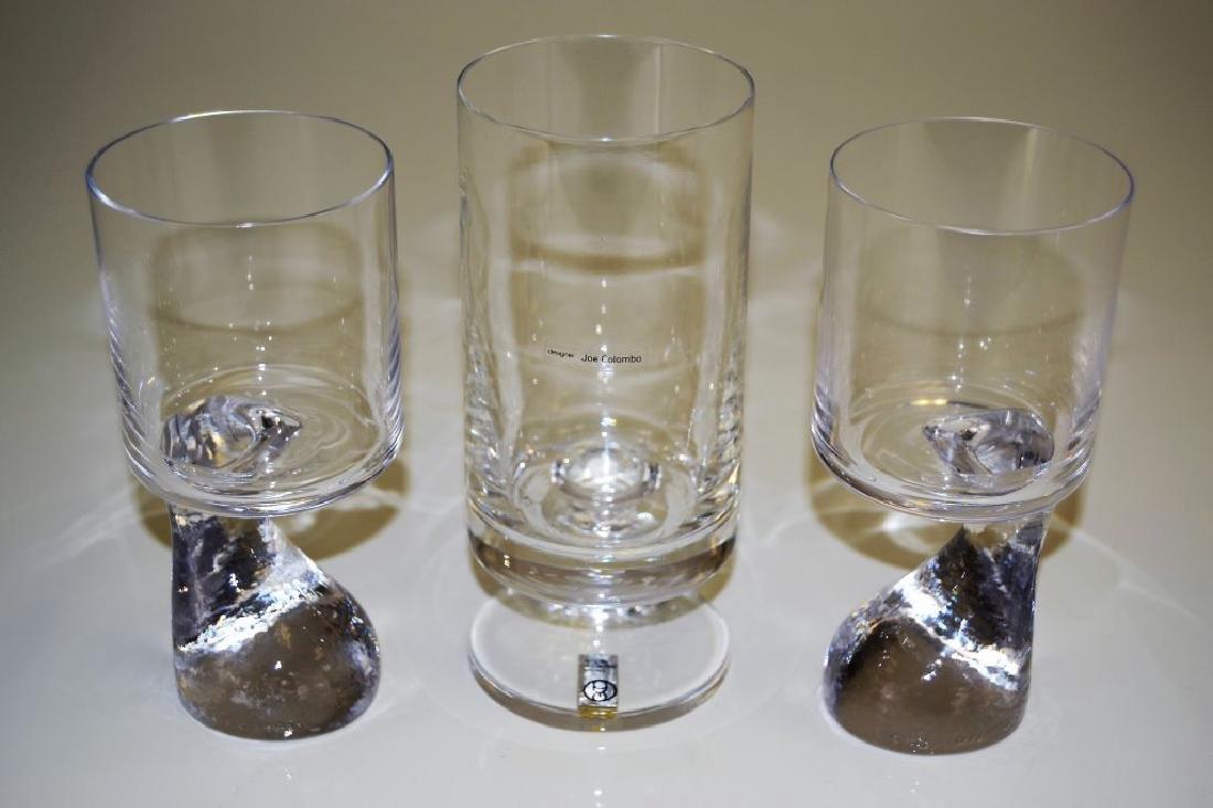 Set of Three Joe Columbo Smoke Glasses - 2