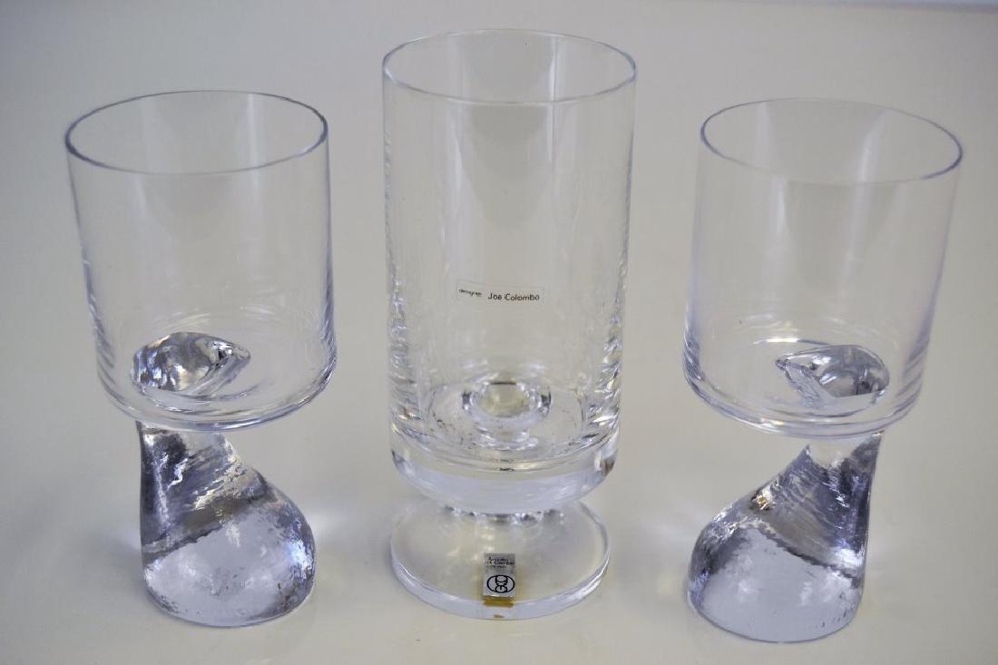 Set of Three Joe Columbo Smoke Glasses - 3