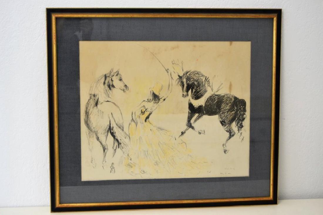 Marcel Vertes Women w/Horses Signed