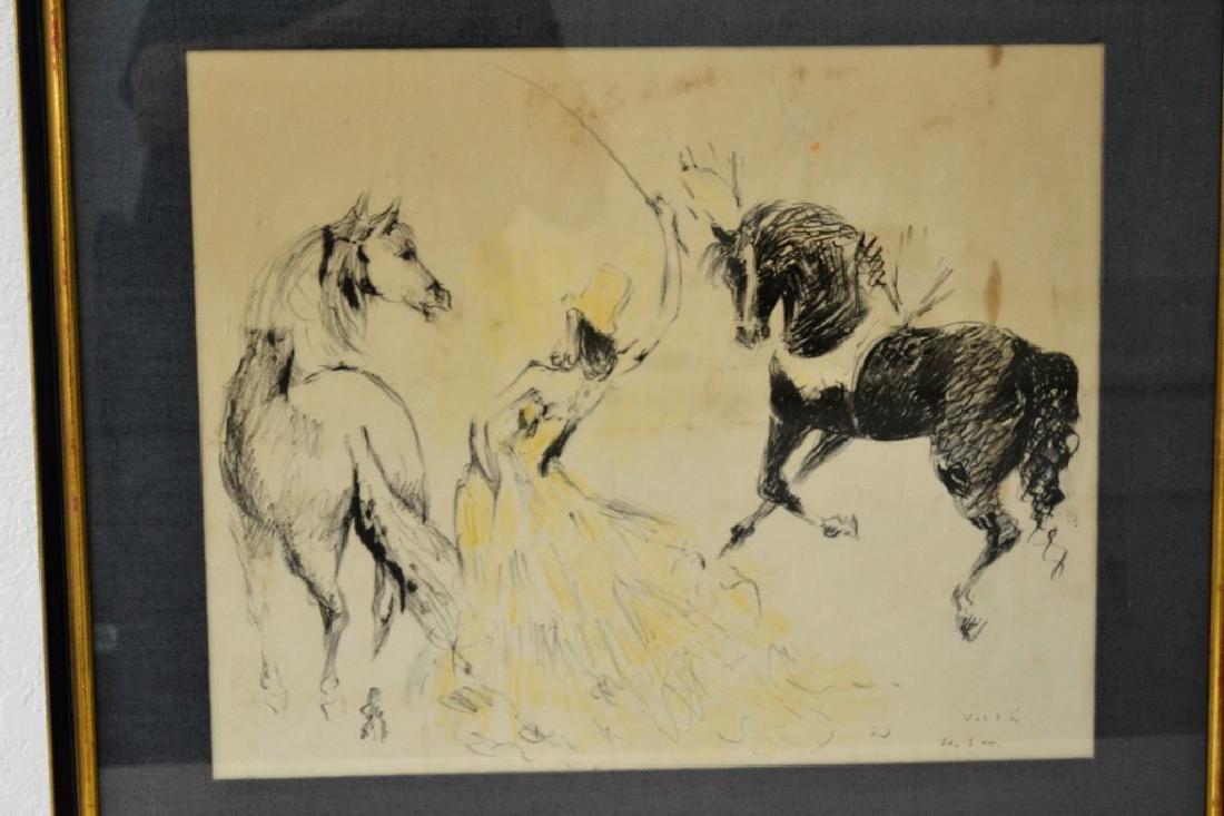 Marcel Vertes Women w/Horses Signed - 2