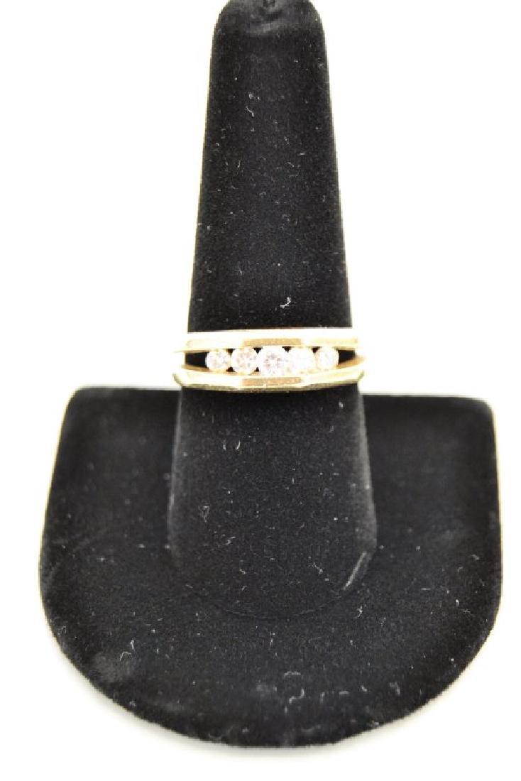 14 K Diamond Ring - 2