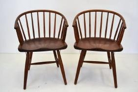 Nanna Ditzel Style Teak Spindle Back Chairs