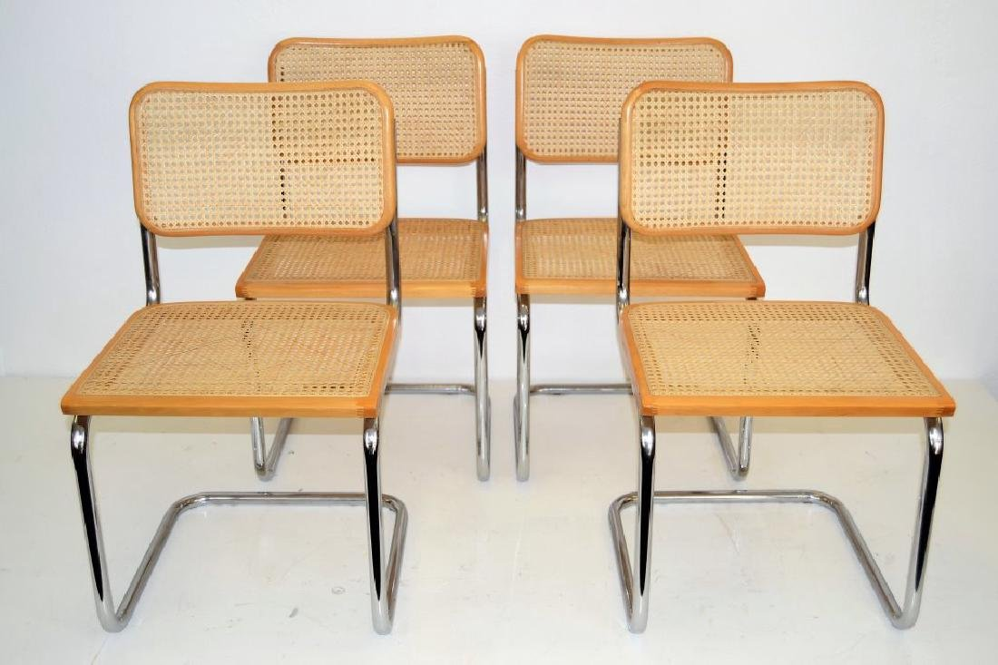 Italian Breuer Style Cane Chairs