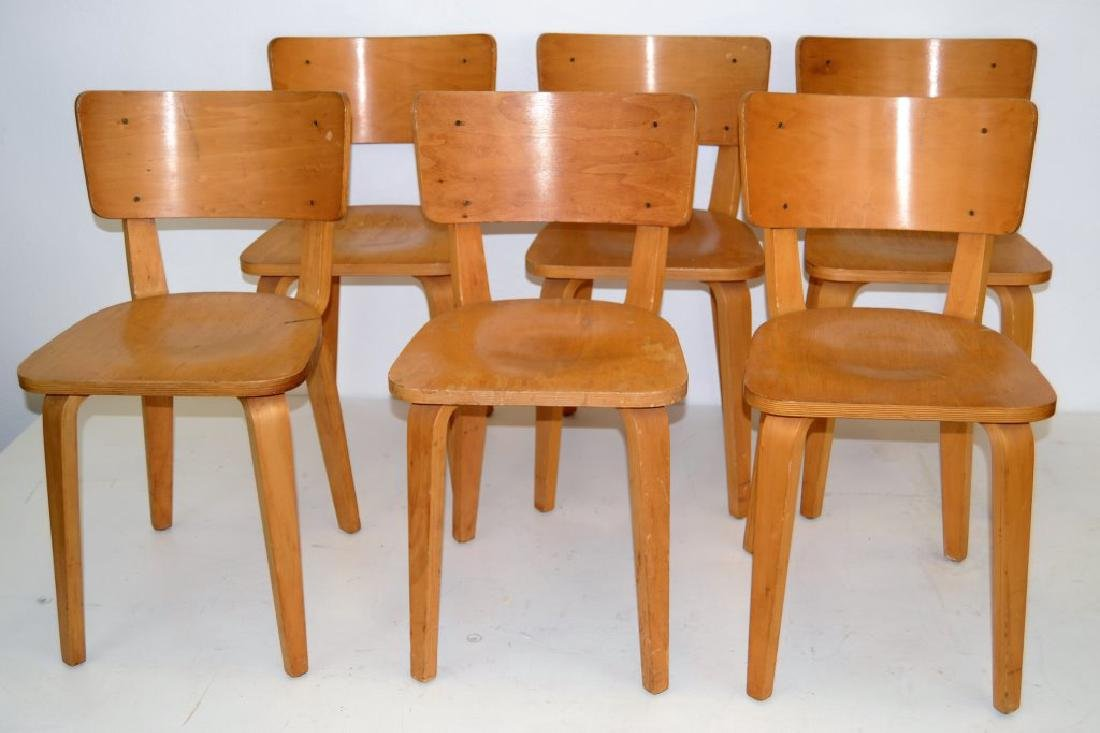 Cor Alons Birch Plywood Side Chairs