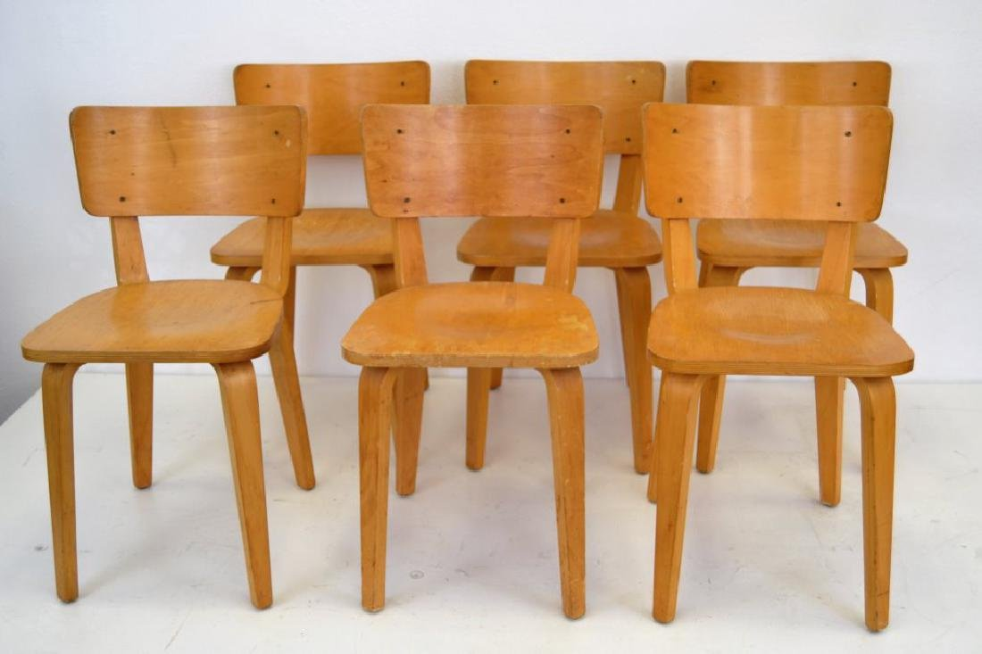 Cor Alons Birch Plywood Side Chairs - 2