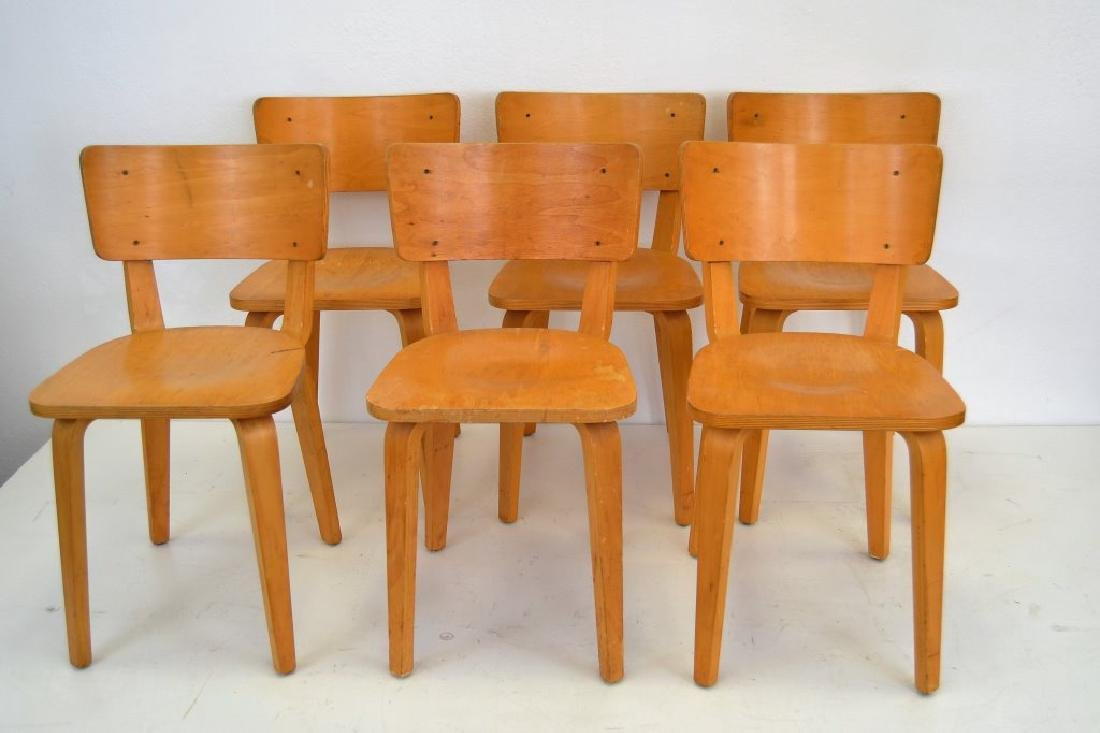 Cor Alons Birch Plywood Side Chairs - 3