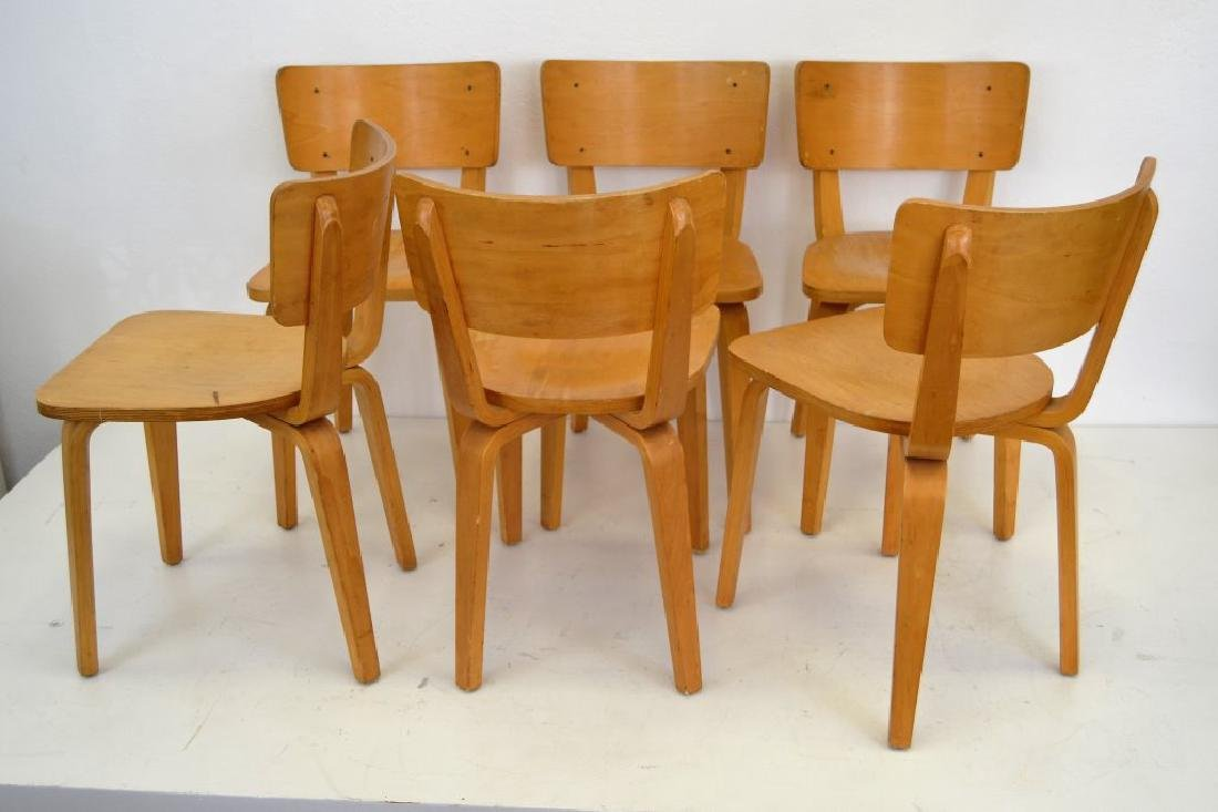 Cor Alons Birch Plywood Side Chairs - 4