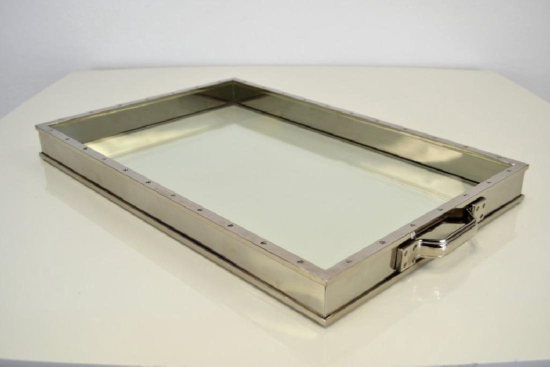 Nickel and Glass Tray