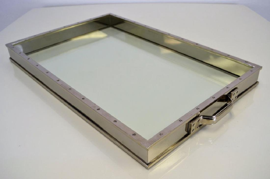 Nickel and Glass Tray - 2