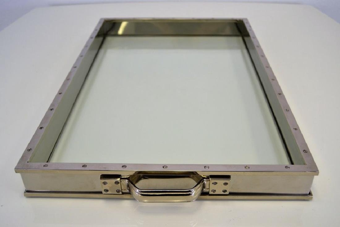 Nickel and Glass Tray - 3
