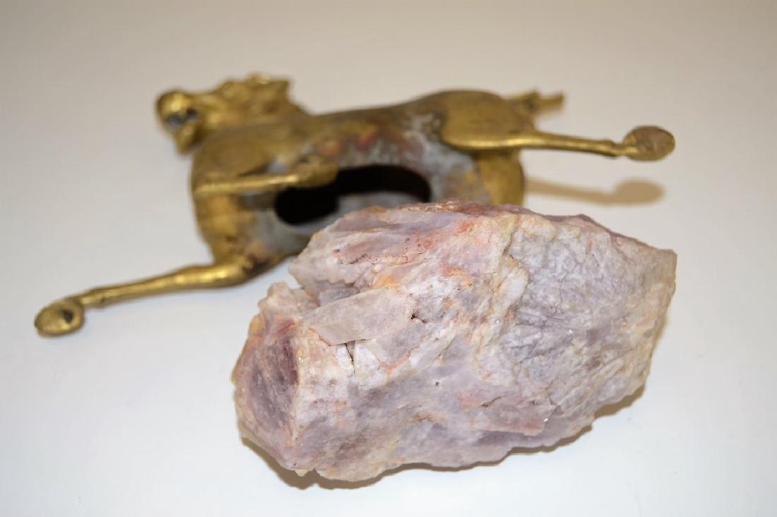 Chinese Bronze & Amethyst Horse - 4