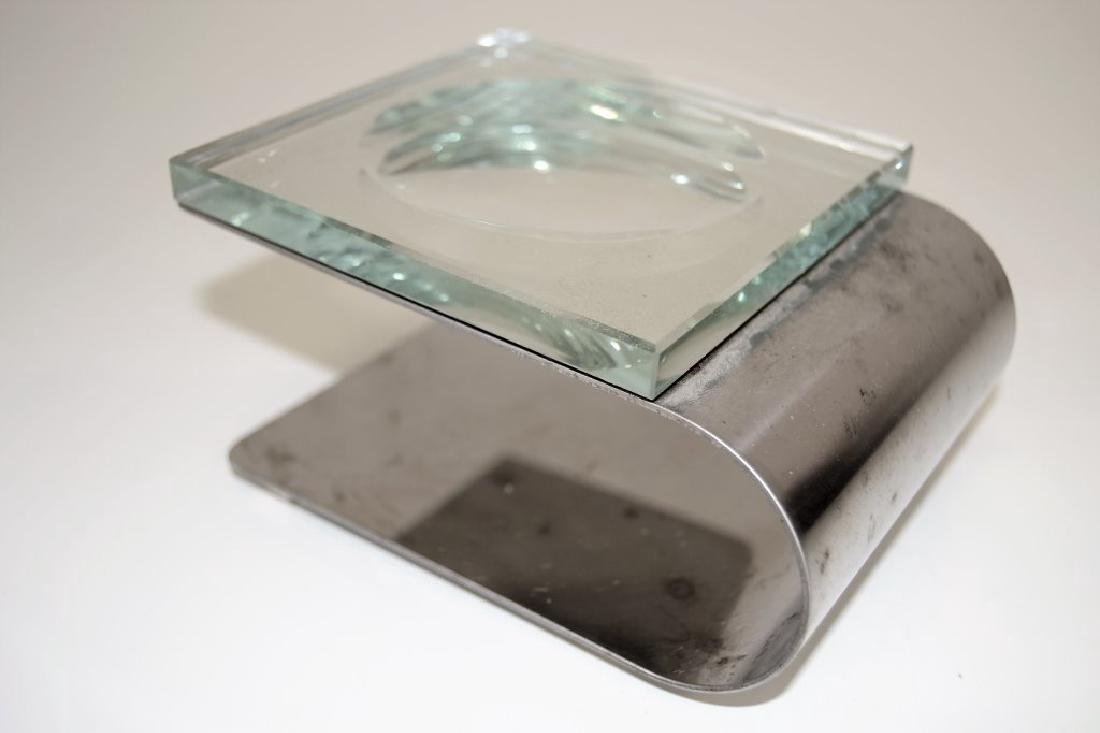 Fontana Arte Dish with Chrome Stand