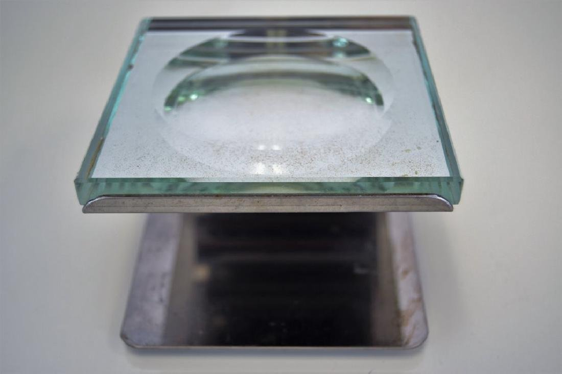 Fontana Arte Dish with Chrome Stand - 3