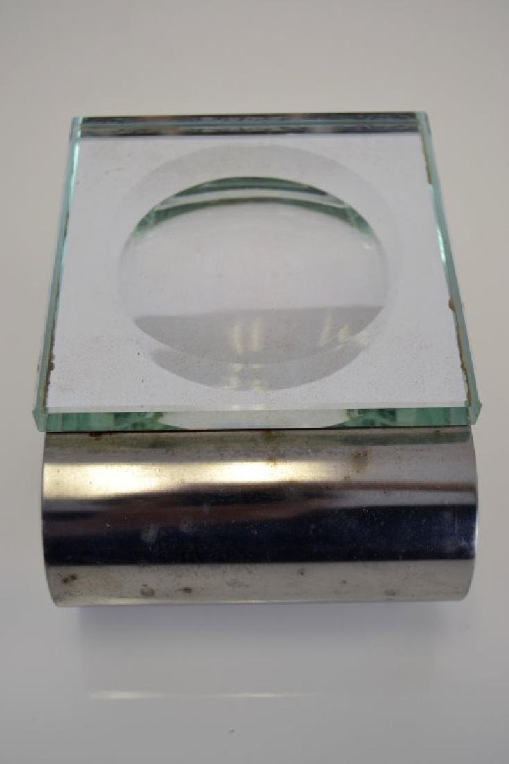 Fontana Arte Dish with Chrome Stand - 4