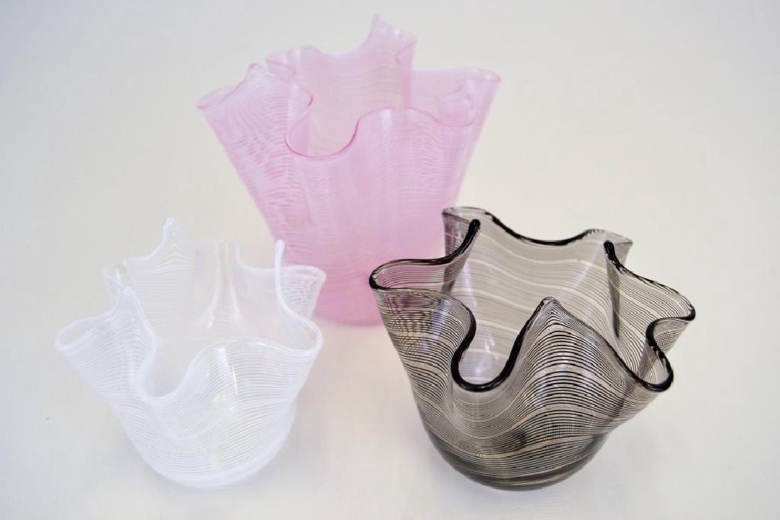 Three Handkerchief Vases