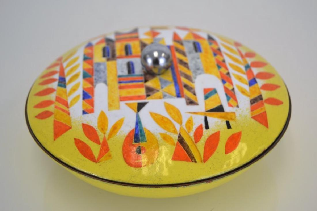 Franz Bergmann Enamel Covered Dish