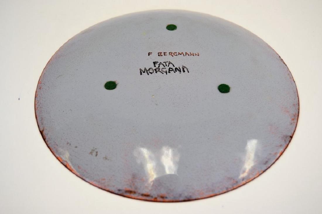 Franz Bergman Enamel Plate - Signed - 3
