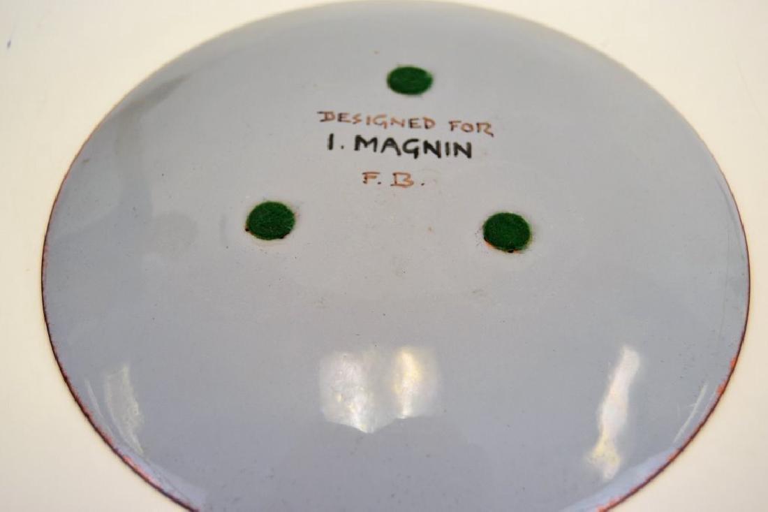 Franz Bergman Enamel Plate - Signed - 4