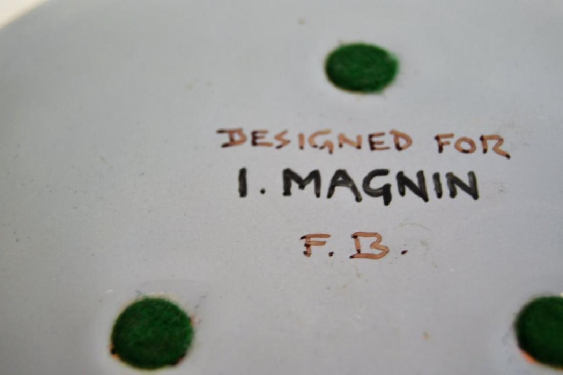 Franz Bergman Enamel Plate - Signed - 5