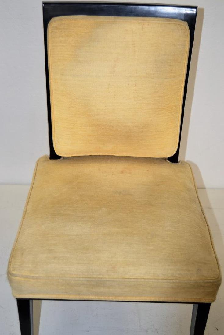 Black Lacquer Chairs with Brass Sabots - Set of 8 - 10
