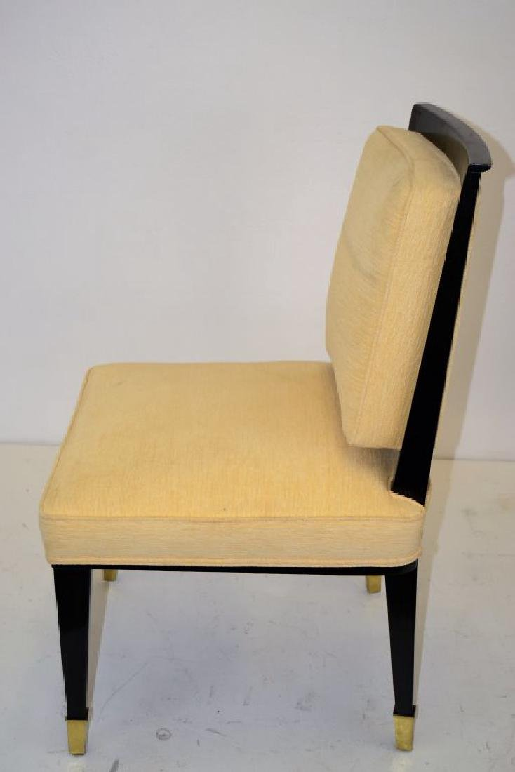 Black Lacquer Chairs with Brass Sabots - Set of 8 - 6