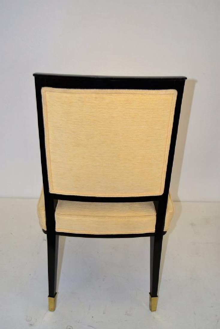 Black Lacquer Chairs with Brass Sabots - Set of 8 - 7