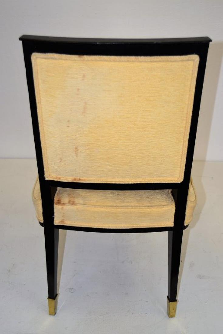 Black Lacquer Chairs with Brass Sabots - Set of 8 - 9