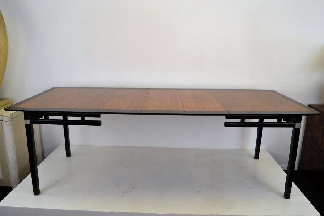 Stylish Mid Century Two Tone Dining Table - 2