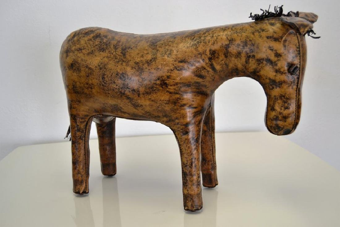 Abercrombie & Fitch Leather Donkey Ottoman - 3