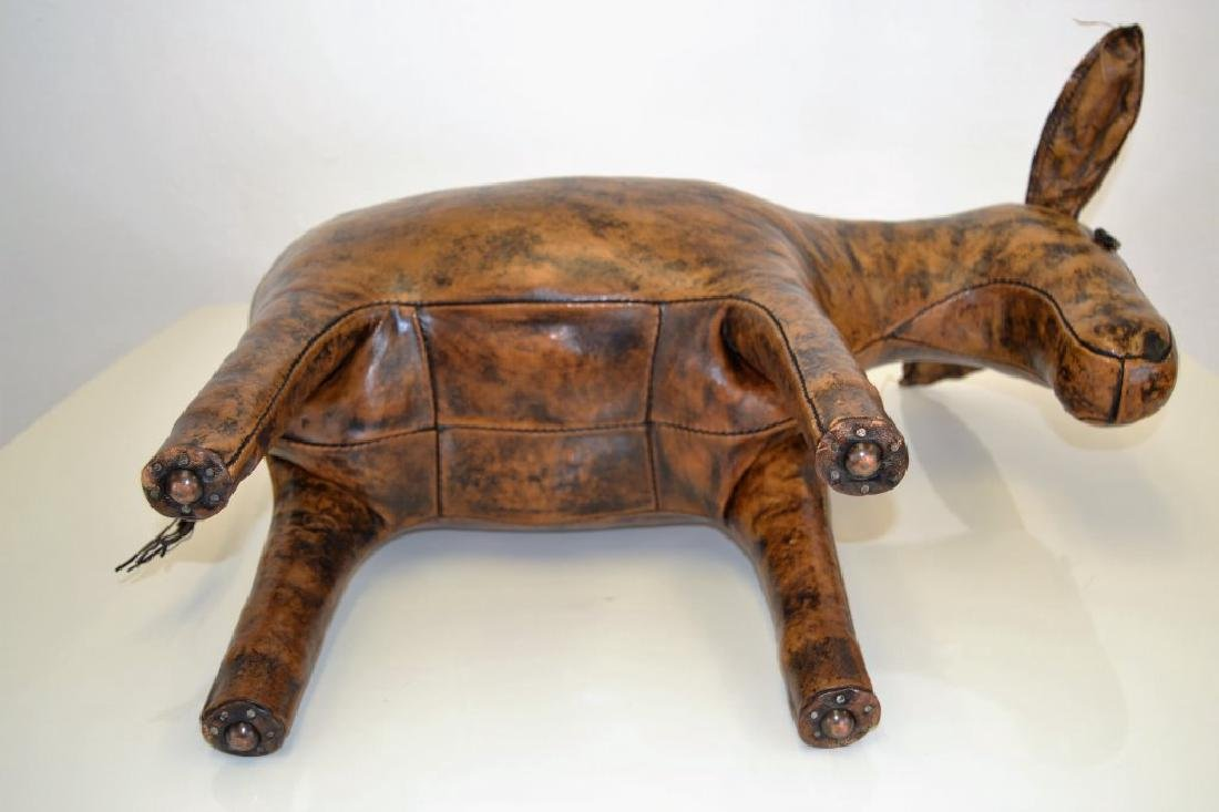 Abercrombie & Fitch Leather Donkey Ottoman - 5