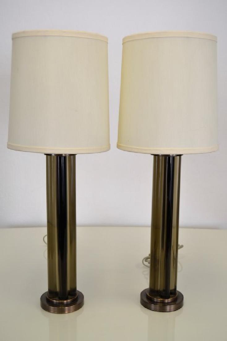 J. Robert Scott Bronze and Glass  Lamps - 2