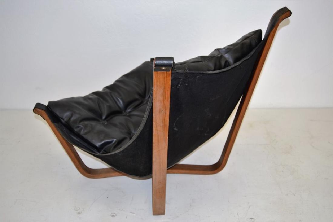 Scandanavian Black Leather Falcon Chair - 2