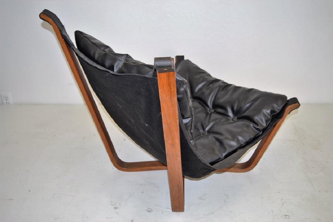 Scandanavian Black Leather Falcon Chair - 3