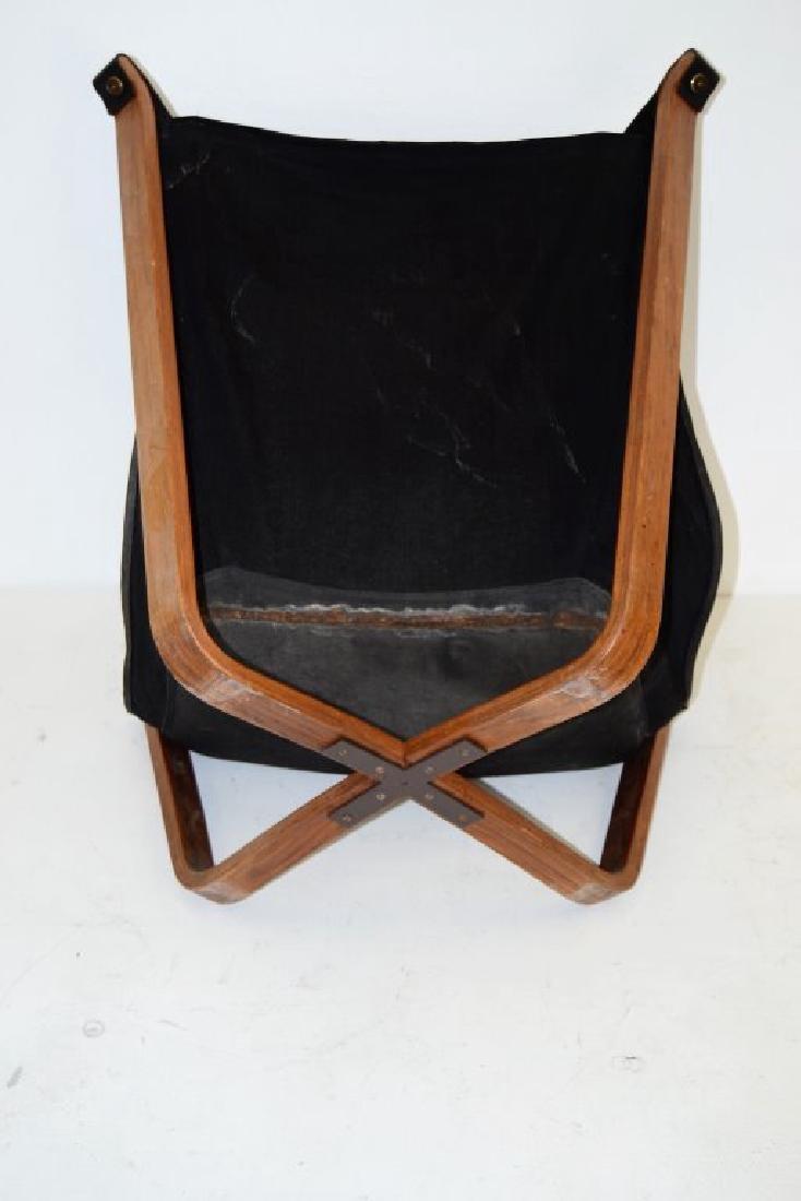 Scandanavian Black Leather Falcon Chair - 4