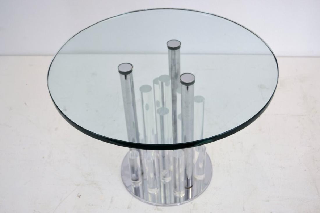 Charles Hollis Jones Lucite/Chrome Round Table - 4