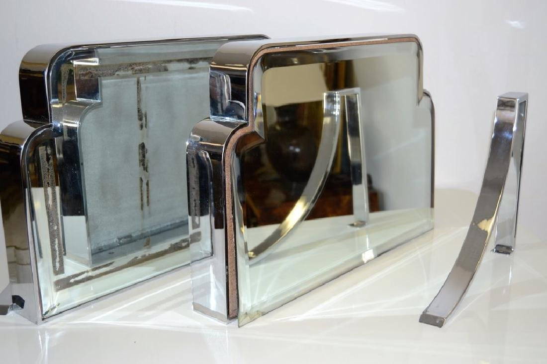 Felciantonio Botta Chrome Mirrored Wall Consoles - 5